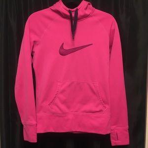 Pink Nike Therma Fit Hoodie Sweatshirt